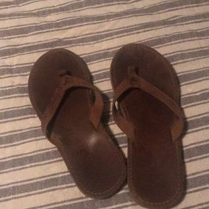 American Eagle Leather Flip Flops